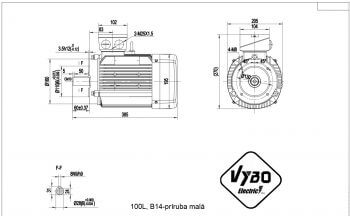 nakres 100L B14 elektromotor