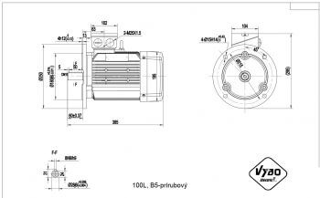 nakres 100L B5 elektromotor