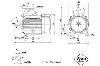 nakres 112 M B3 elektromotor