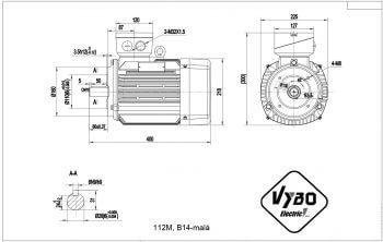 nakres 112M B14 elektromotor