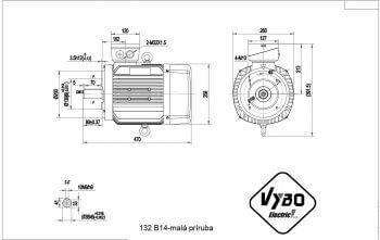 nakres 132 B14 elektromotor
