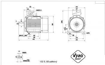 nakres 132 B3 elektromotor