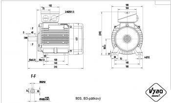 nakres 90 S B3 elektromotor
