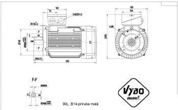 nakres 90L B14 elektromotor