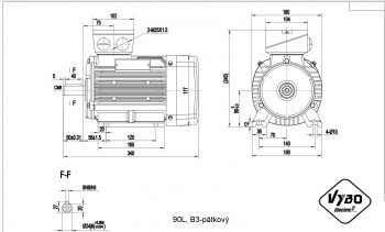 nakres 90L B3 elektromotor