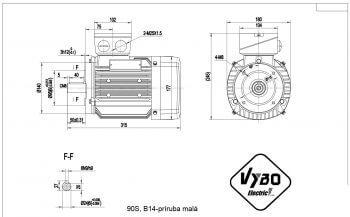 nakres 90S B14 elektromotor