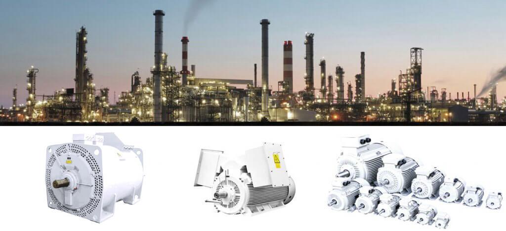 Elektromotory pro těžký průmysl