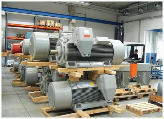 Sklad VN elektromotorů Siemens