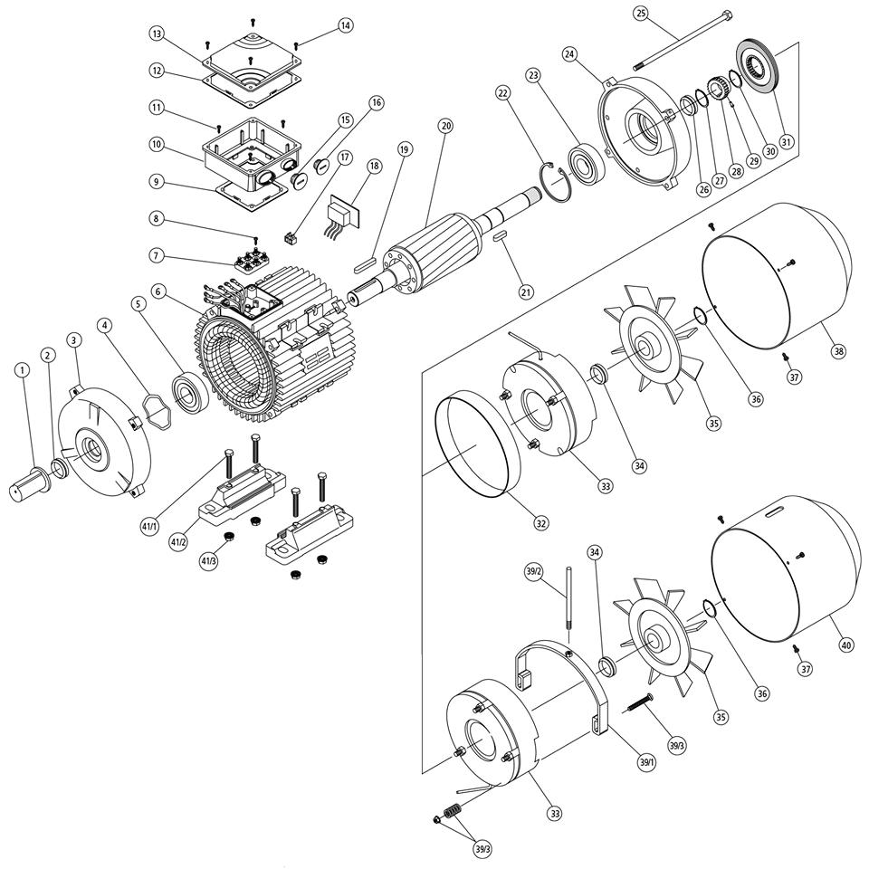 náhradní díly elektromotor s brzdou