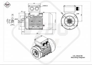 rozmerový výkres elektromotor 1AL 56 B14B online