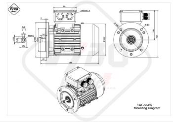 rozmerový výkres elektromotor 1AL 56 B5 online