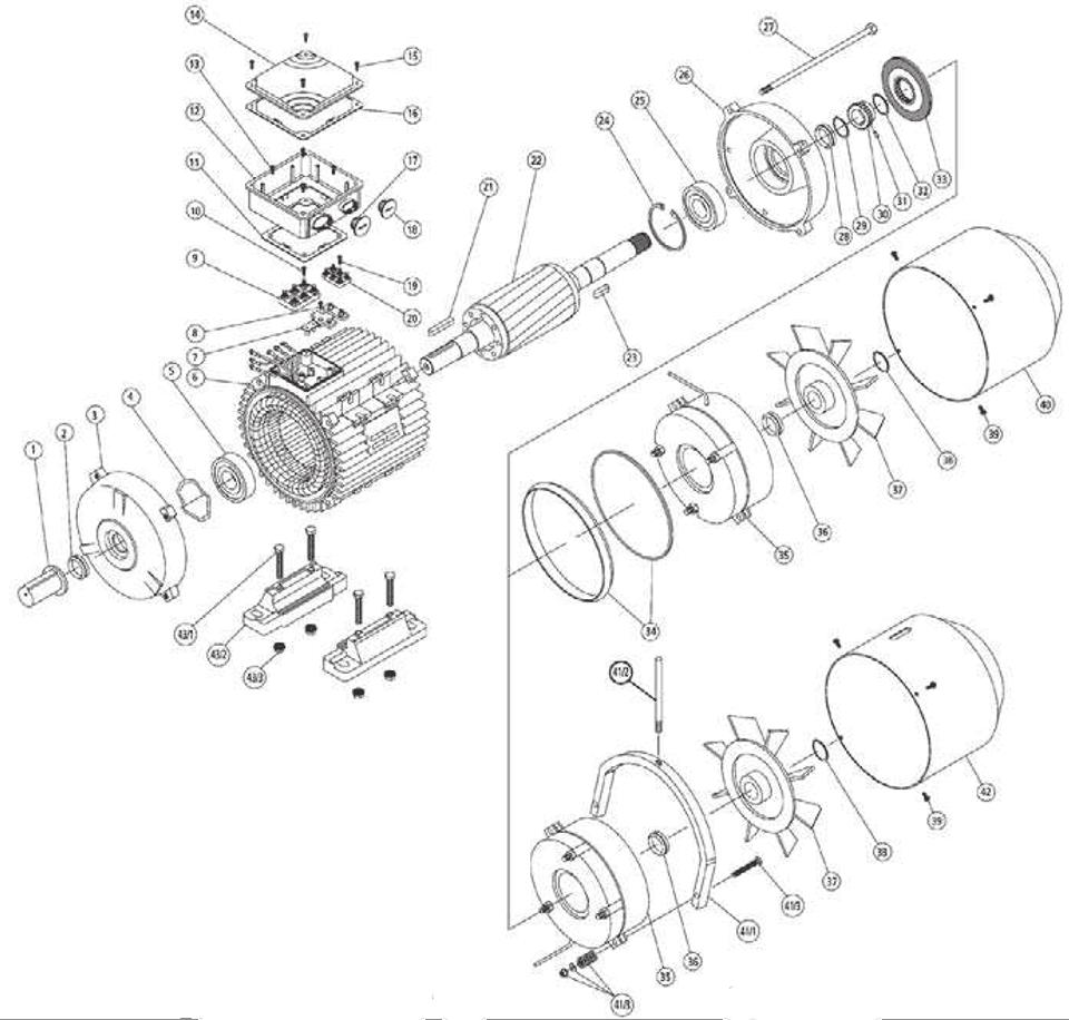 součástky elektromotor s brzdou