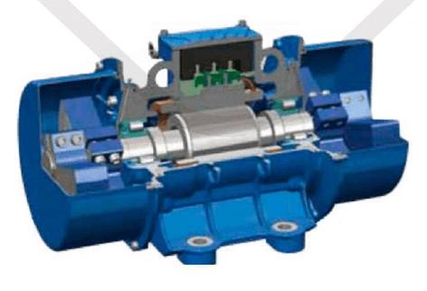 vibrační elektromotor 1,3kw BM1400/3-U