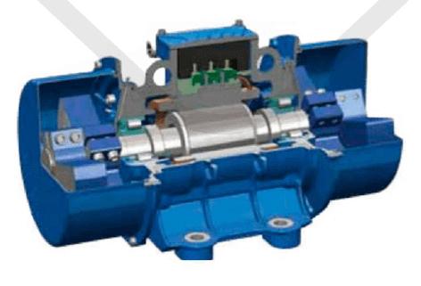 vibrační elektromotor 10kw BM9000/3ační elektromotor 0,095kw BM60-15